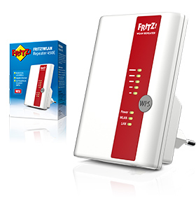afz zeven avm fritzwlan repeater 450E software hardware